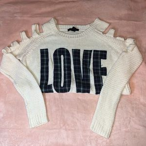 Love Off the Shoulder Sweater